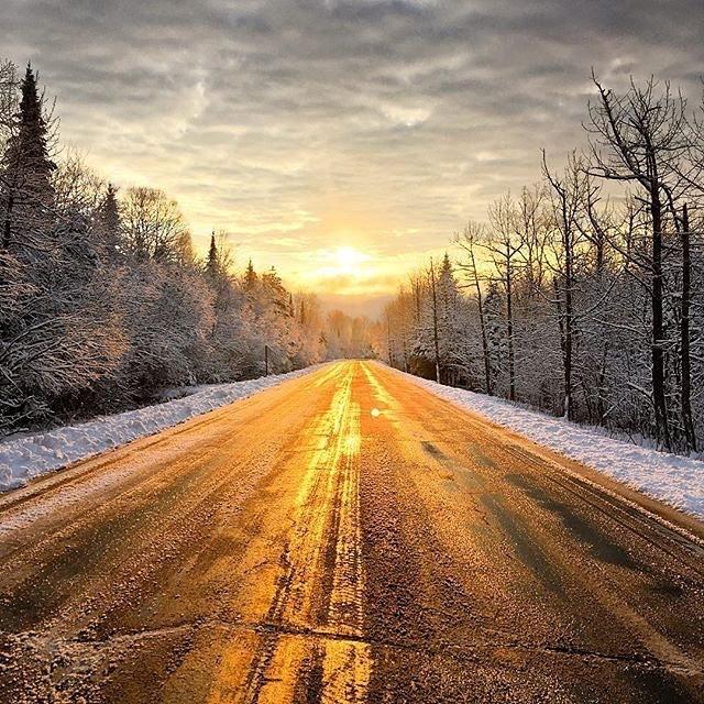 미네소타의 겨울 새벽 길.jpg