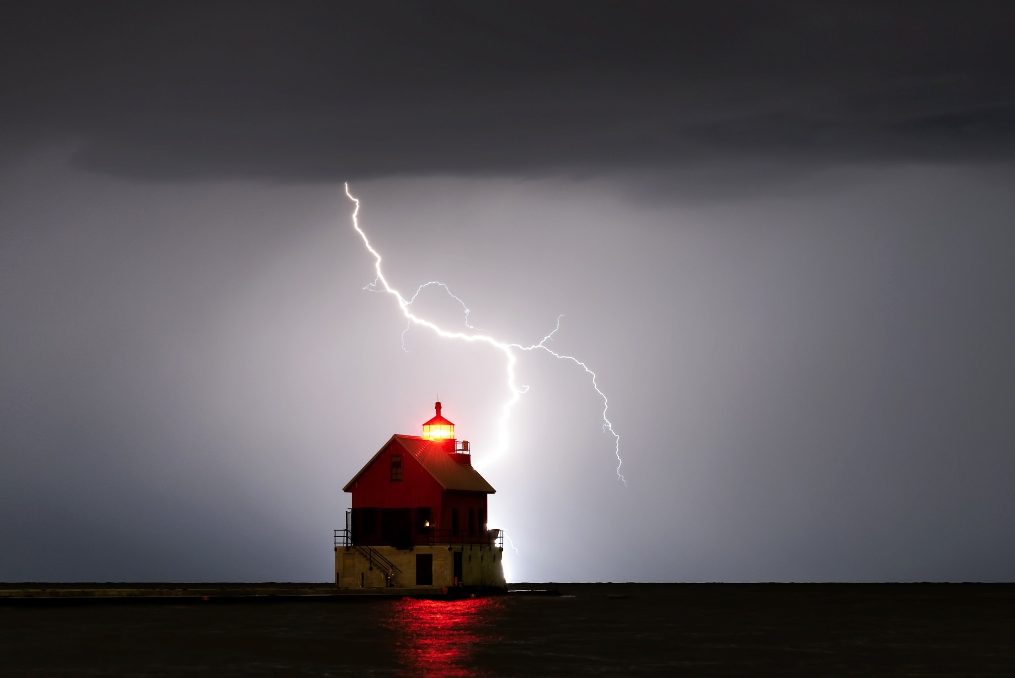 a lightning show, Grand Haven by Levi Langerak.jpg