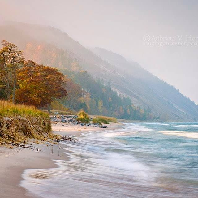"""Early light on a misty morning at Empire Beach,"""" Michigan, by Aubrieta V. Hope Photography..jpg"""